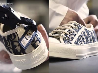 日本Dior客製服務 帆布鞋繡名字