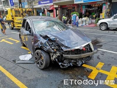 休旅車與貨車衝撞 行車紀錄曝光