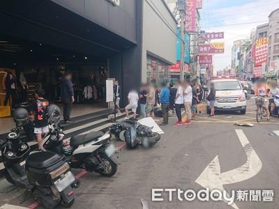 快訊/機車碰撞滑進店!台中車禍釀7傷
