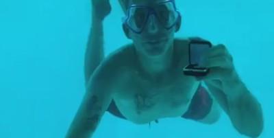 女友錄下「男友水中拿鑽戒求婚」竟成溺斃前最後身影