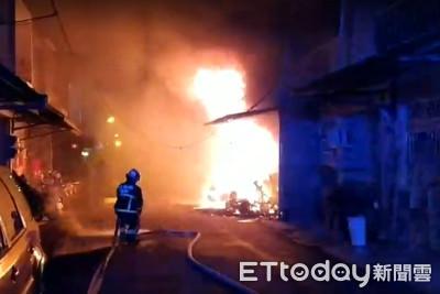 即/宜蘭大火濃煙沖天 延燒2民宅