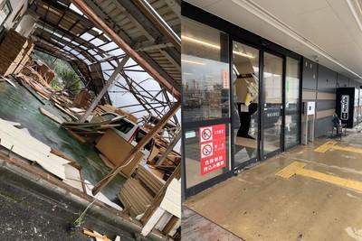 窗破鐵塔倒!九州突颳猛烈龍捲風