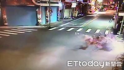 情侶深夜騎車遭撞 25歲男友「重摔噴血」慘死