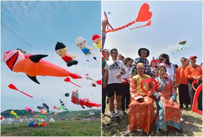 北海岸風箏節 最老愛侶結婚60年圓風箏夢