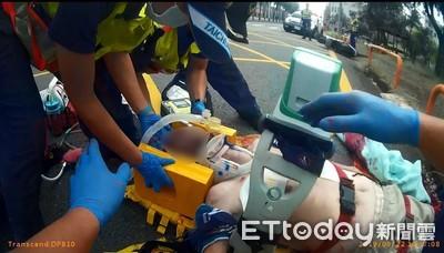 老翁摔車臉部撞地送醫不治