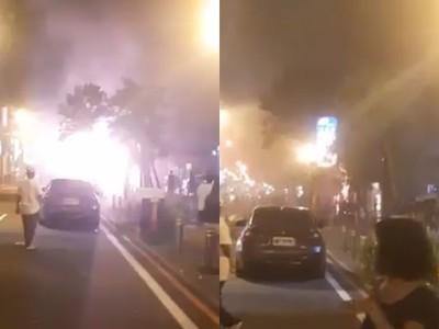 快訊/台南驚傳火警!電線狂閃「白光竄出」