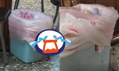 丟2片果皮滿了!「小姑狂套塑膠袋」她無奈