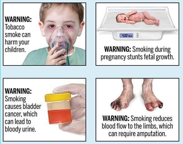 ▲▼吸菸警告圖。(圖/翻攝自FDA)