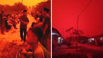 悲哀!奇幻「血色天空」網讚好美 專家揭真相:嚴重霧霾、污染指數爆表
