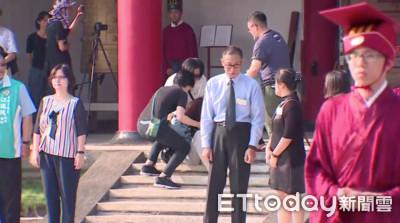 韓國瑜早起準時參加孔子誕辰典禮有人暈倒
