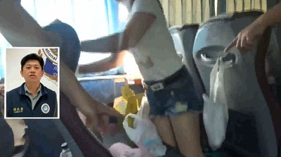 非法移工包車玩墾丁 熱褲妹被抓秒塞椅下