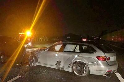 三寶擊落BMW網紅車 車主哭哀悼