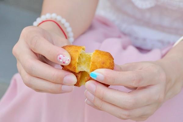 ▲▼第一名地瓜球。(图/橘子狗爱吃糖提供)