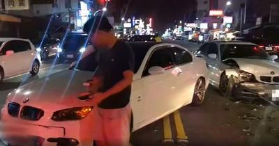 他酒後開BMW直直衝!釀5車追撞喊:想睡覺