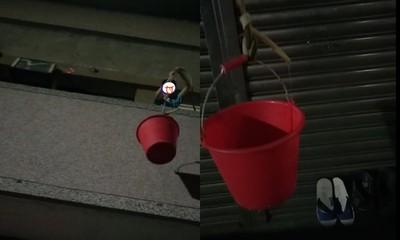 阿公在睡!機智孫半夜「吊水桶」拿外送