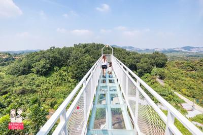 台南「玻璃天空步道」可以鎖愛情鎖