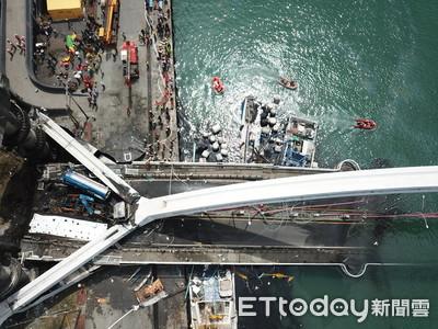 影/南方澳大橋坍塌、油罐車墜落起火 中油:司機骨折送醫搶救...損失盤點中