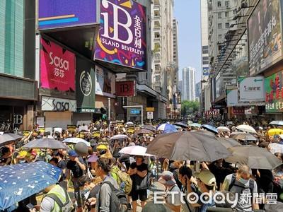 港周日大遊行 港警:暴力就提前中止