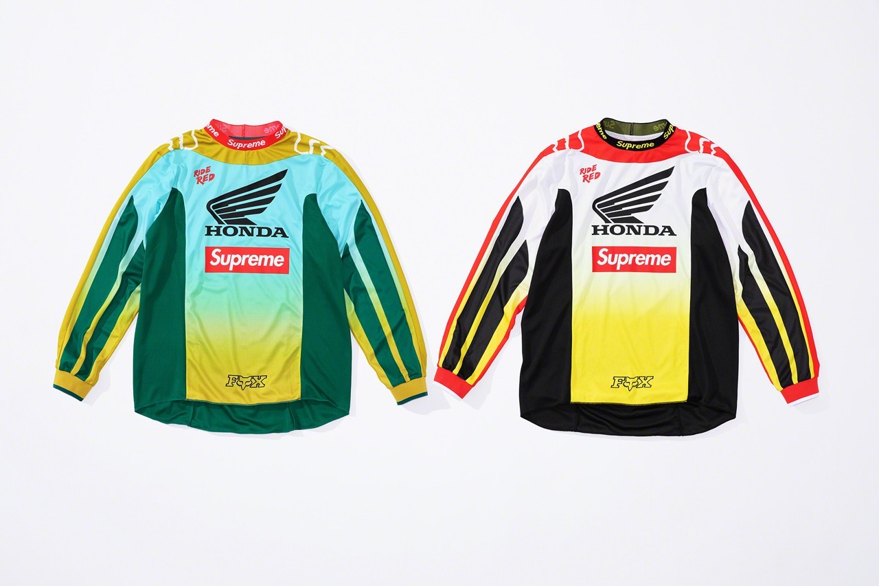 ▲Supreme X Honda X Fox Racing。(圖/翻攝自Supreme官網、IG@showlo)
