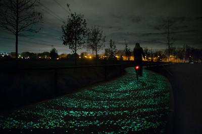 閃閃發光的自行車道