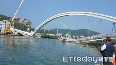 跨海橋塌阻漁船航道 9時25分搶通!