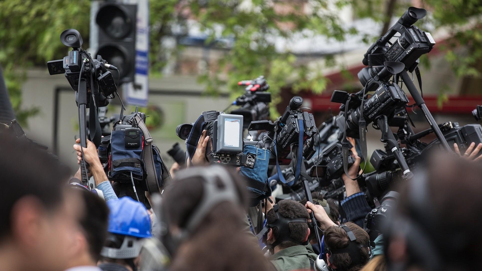 ▲媒體,攝影,記者,採訪。(圖/取自免費圖庫Pixabay)