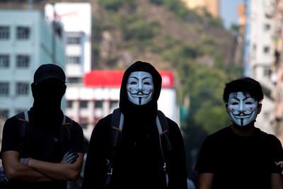 香港政府即將推出「禁蒙面法」