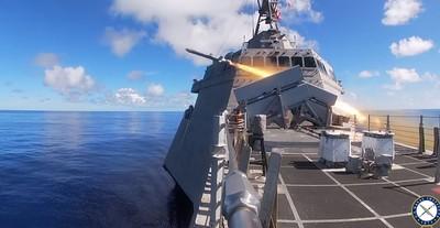 美星共同擊沉演習 轟派里級軍艦