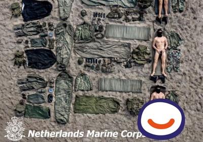 荷蘭陸戰隊全裸開箱 網友驚見有台灣