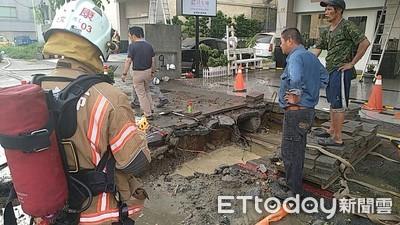 永康施工挖斷天然氣管線瓦斯外洩