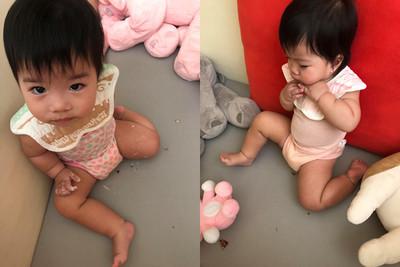 1歲雙寶分屍蟑螂 媽見「滿嘴蛋白質」崩潰