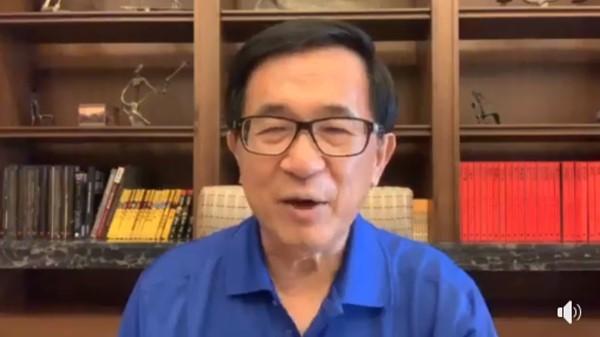 阿扁:蔡英文政府沒有「卡韓」。(圖/翻攝自Facebook/陳水扁)