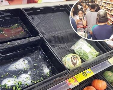 憂衝突升級 港人湧超市搶購食材