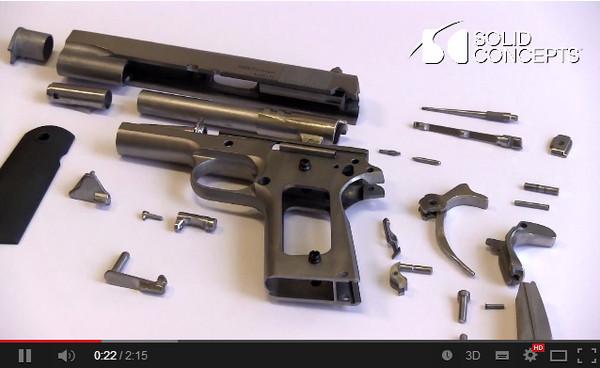 3D列印造武器! 世界上第一把列印金屬槍誕生
