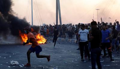 伊拉克反政府示威增至104死6000傷