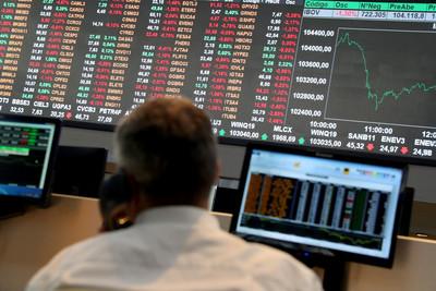 美股開低走低  台指期開盤下跌70點