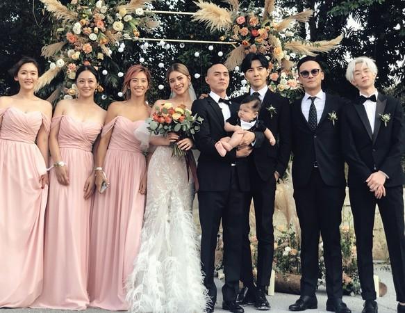 ▲林珈安舉辦婚禮。(圖/翻攝自臉書/唐禹哲)