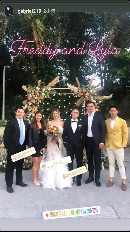 ▲林珈安舉辦婚禮。(圖/翻攝自藍鈞天Instagram)