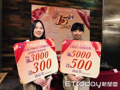 美麗華周年慶 消費滿萬送1400元