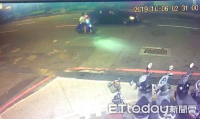 騎士遭賓士撞倒毆打 遭警一秒揭穿