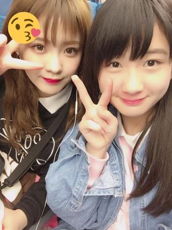 ▲▼中野麗來的妹妹中野美來(右)仍是NMB48練習生。(圖/翻攝自推特/中野麗來)