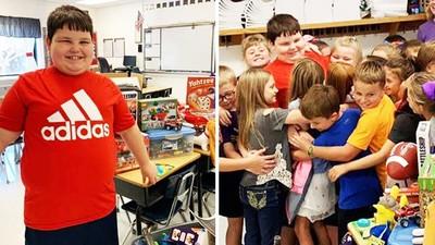 滿滿的友情!9歲童家裡失火「上課偷哭」 全班捐玩具只為逗他開心