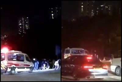 港警開車衝示威隊伍「連轉3圈」嚇壞用路人