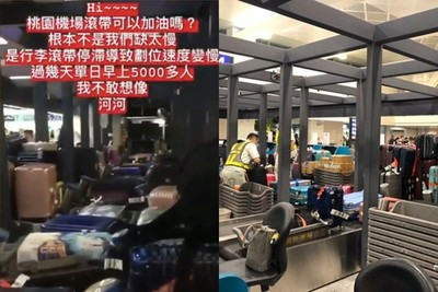桃機二航「行李輸送帶」遭爆狂停擺出包