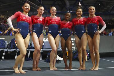 體操世錦賽美國女團5連霸