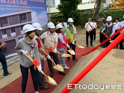 台南市消防局公園分隊辦公廳舍動土
