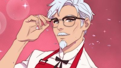 肯德基爺爺變身大眼花美男!KFC推戀愛遊戲 邊炸雞邊刷好感度
