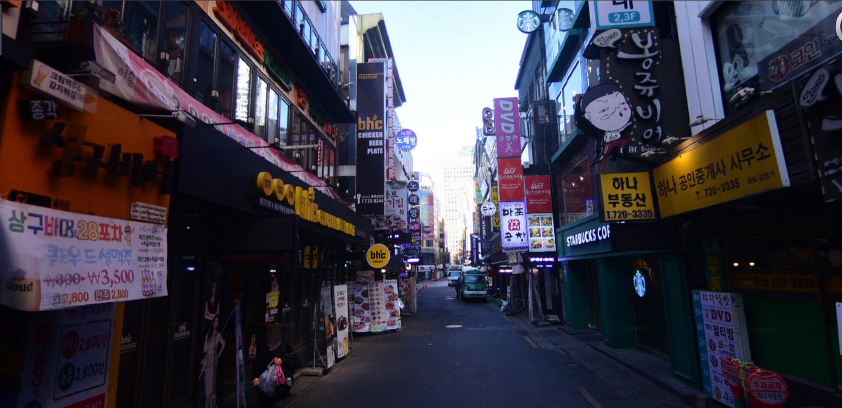 ▲▼首爾鐘路青春街(圖/翻攝自Naver地圖街景)