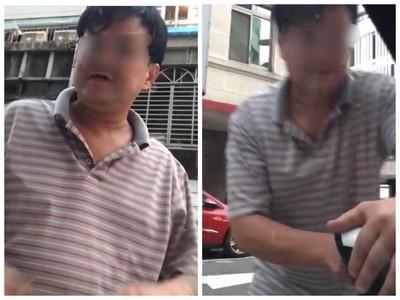 尿尿怪男發狂攻擊路邊車女嚇壞