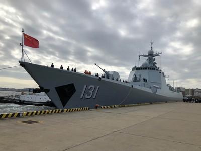 解放軍「太原」驅逐艦抵日出席海上閱艦式